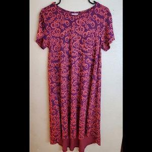 Lularoe Carly Paisley Purple Boho Dress